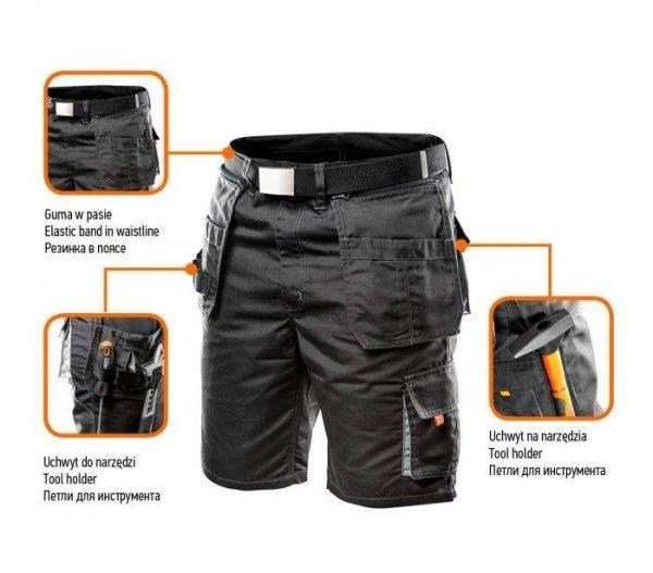 Kratke hlače s remenom i odvojivim džepovima NEO 81-270_