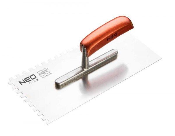 Nazubljena gladilica 4x4x4 mm 280x130 mm NEO 50-022