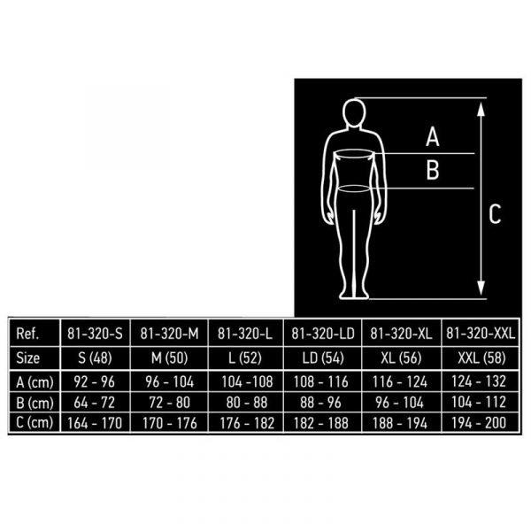 Radne hlače S-XXL NEO tablica