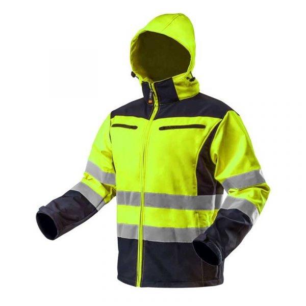 Reflektirajuća radna jakna s kapuljačom žuta NEO 81-700/81-701