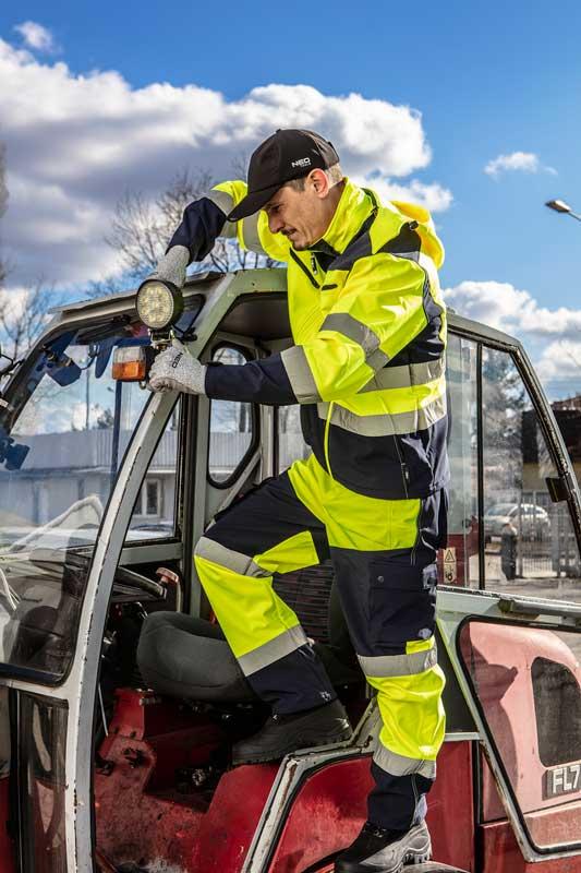 Reflektirajuća radna jakna s kapuljačom žuta NEO 81-700
