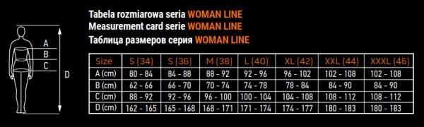 tablica veličina woman line