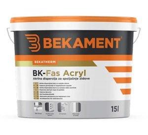 BEKAMENT Akrilna boja za vanjske zidove 1- 5 l BK-Fas akril