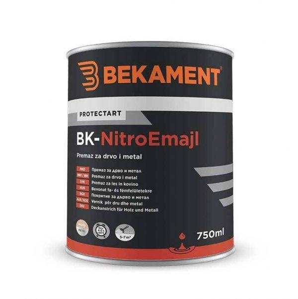 BEKAMENT Pokrivni premaz za drvo i metal 750 ml BK-Nitro emajl