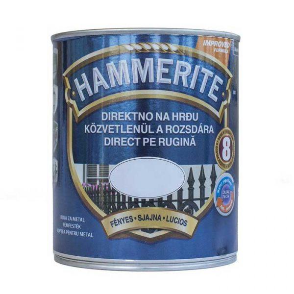 HAMMERITE Boja za željezo 3u1 bijela 250-2500 ml