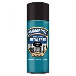 HAMMERITE Sprej polumat crni 400 ml 3u1