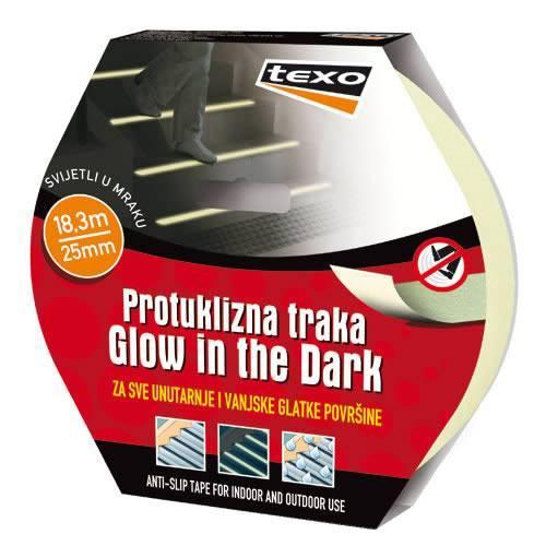 """Protuklizna traka """"Glow in the dark"""" žuta TEXO"""