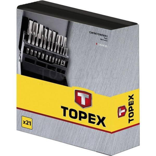 Set ureznica M3-M12 21 kom. TOPEX 14A430 (2)