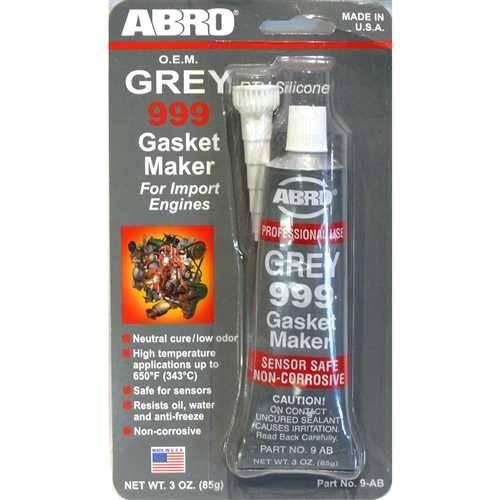 Silikon za zaptivanje temperaturni sivi 85g ABRO