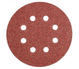 Brusni papir na čičak 125 mm 8 rupa K40-K240 5-1 GRAPHITE 55H939-55H944