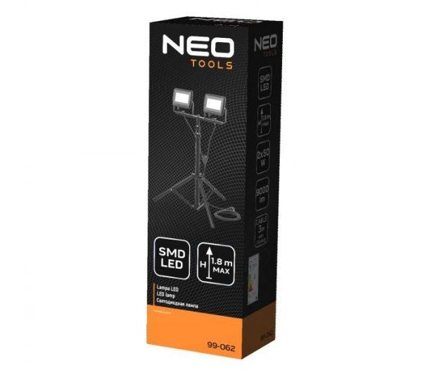 LED Reflektor s tripod stalkom 2 X 50 W 9000 Lm NEO 99-062_1